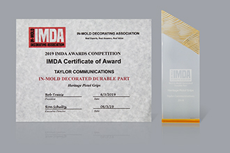IMDA In Mold Decoration Durable Part Award