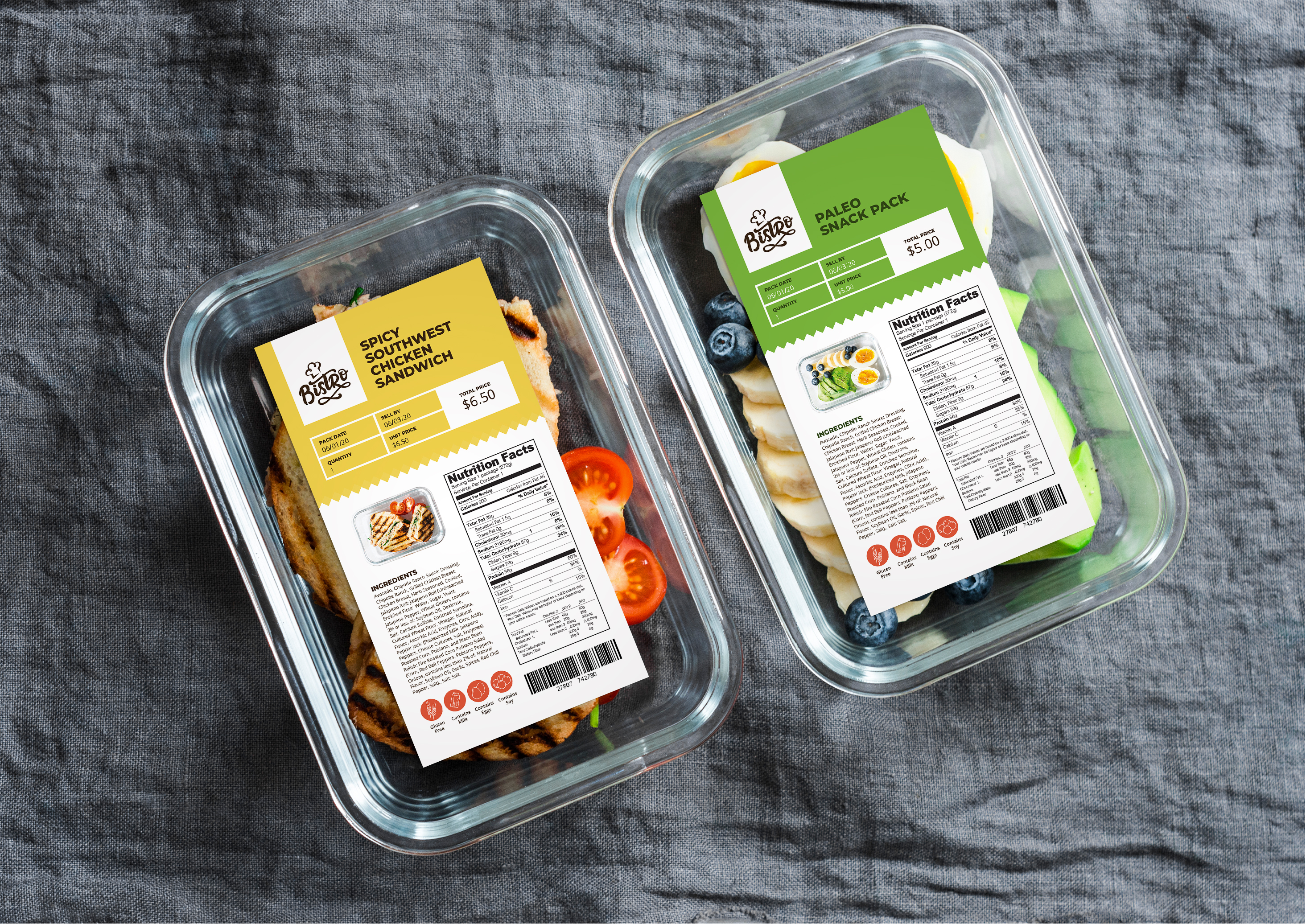 Clamshell packaging is one type of prime label offered by Taylor